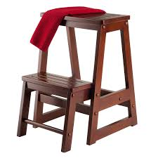Decorative Step Stools Kitchen Amazoncom Winsome Wood Step Stool Antique Walnut Kitchen Dining