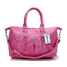 Coach Embossed Medium Pink Satchels DDY