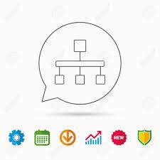 Hierarchy Icon Organization Chart Sign Database Symbol Calendar