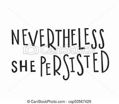 She Persisted Quote Extraordinary She Persisted Tshirt Quote Lettering Nevertheless She Persisted T