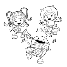 Small Picture Team Umizoomi Coloring Pages Printable Cartoon Coloring Pages