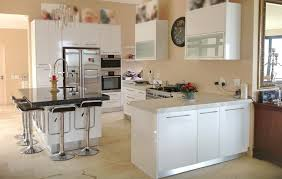 cheap kitchen cupboard:  modern kitchen with small black dinning table with  chairs and white cheap kitchen kitchen white kitchen cabinets
