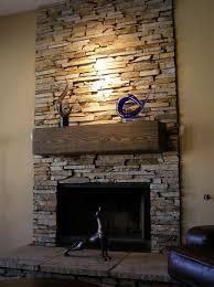 Install A Fireplace Mantel And Add Stone Veneer Facing  Howtos  DIYStacked Stone Veneer Fireplace