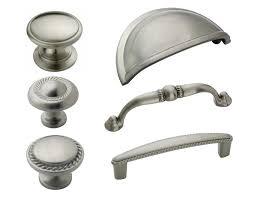 Amerock Satin Nickel Rope Cabinet Hardware Knobs Pulls eBay