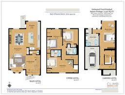 color floor plans with dimensions. Interesting Floor Location San Francisco CA U2022 Property Type Townhouse Size 2330 Intended Color Floor Plans With Dimensions D