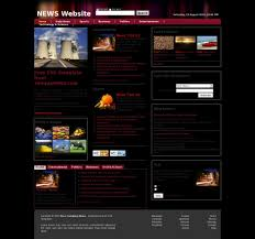 Newspaper Web Template Free News Web Template All Free Web Themes Templates