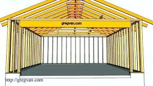 garage door framing header size
