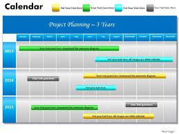 Ppt Calendar 2015 3 Years Project Planning Gantt Chart 2013 Calendar