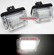 2011 Mazda 3 License Plate Light 2pcs Xenon White Led License Number Plate Lamp Light For