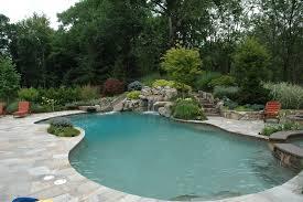 pool design ideas. Irregular Shaped Natural Pool Design Ideas
