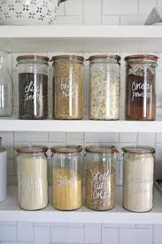 spices baking ings and snacks in glass jars or other transpa containers