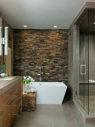 stone wall shower stacked walls faux granite panels effect tile color