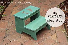 Step Stool Plans Designs Diy Vintage Step Stool Plans By Ana White Adorable