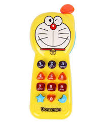 TOYVALA Doraemon Musical Toy Phone With Music \u0026 Light for Kids ...