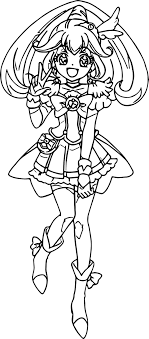 Coloring glitter force requires accuracy because the picture is quite detailed and the space is not too large. Glitter Force Coloring Pages Best Coloring Pages For Kids