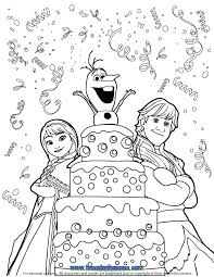 Small Picture 24 best Disney Frozen Birthday Coloring Pages images on Pinterest