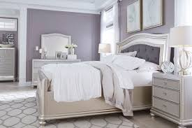 Silver Bedroom Furniture Sets Coralayne Panel Bedroom Set Signature Design Furniture Cart