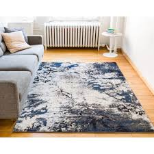 well woven luxbury supurasshu blue 5 ft x 7 ft modern area rug