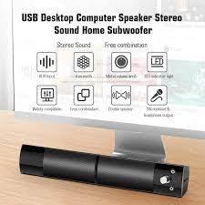 V 117 USB Desktop Speaker Komputer Stereo Rumah Subwoofer Mini Double  Speaker 3.5 Mm Audio Jack untuk DVD TV PC Laptop home Theater|Speaker  komputer