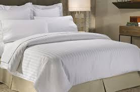 hotel duvet cover sets 300 thread count cotton 3cm stripe white 003