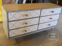 chevron painted furniture. Painted Patterns On Furniture - Quatrefoil And Chevron