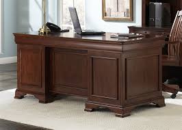 Image Clinton Hill Larger Photo Home Cinema Center Louis Jr Executive Home Office Desk In Deep Cherry Finish By Liberty