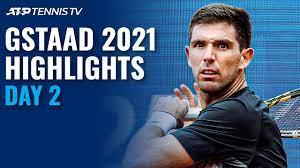 Stricker Battles Rinderknech; Djere & Delbonis Start Campaigns   Gstaad  2021 Highlights Day 2 - YouTube