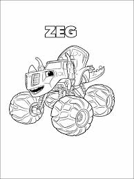 Blaze And The Monster Machines Coloring Pages 12 Värityskuvia Lapset