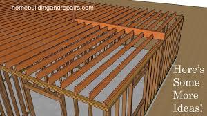 Joist Design Example Ceiling Joist Framing Ideas For L Shaped Floor Plan Design New Home Construction