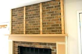 refacing brick fireplace with tile amazing how to reface a stone veneer covering shiplap b cover brick fireplace with tile