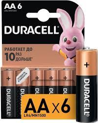 Купить AA <b>Батарейка DURACELL</b> Basic <b>LR6</b>-<b>6BL MN1500</b> в ...