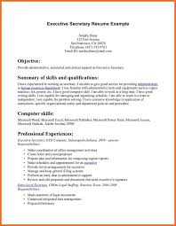 Secretary Resume Sop Example