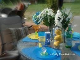 Outdoor Table Decor A Pretty House Rocks Home Decorating Blog Quick Outdoor Patio