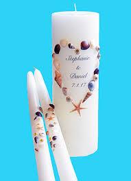 Shell Designs Beach Seashell Wedding Unity Candles 9 Designs