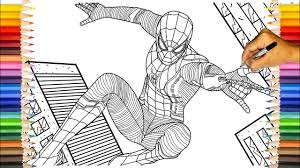 See more ideas about spiderman coloring, spiderman, coloring pages. Spider Man Far From Home Upgraded Suit Spider Man Far From Home Coloring Pages Youtube