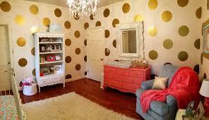 image of polka dot wall decals gold