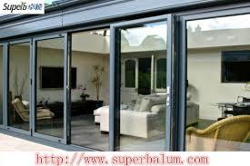 thermal break aluminium sliding door with double glazed glass 3