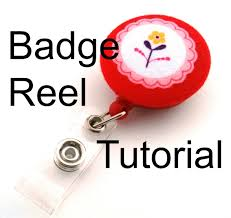 diy retractable id badge reel tutorial