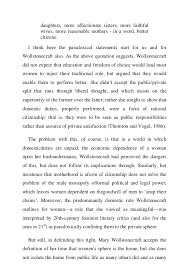analysis of mary wollstonecraft s vindication   10
