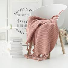 modern throw blanket. Beautiful Blanket Modern Throw Blanket Collalily Sofa Pink Nordic Solid  Bedding Bed Inside