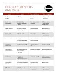 Product Feature Benefit Chart Features Benefits And Value Chart District 33 Toastmasters
