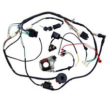 Amazon minireen full wiring harness loom kit cdi coil mag o kick start engine for 50cc 70cc 90cc 110cc 125cc atv quad bike buggy go kart pit dirt