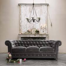 grey velvet tufted sofa. Unique Velvet Elegant Gray Velvet Tufted Sofa For Grey V