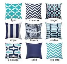 Navy and White Pillow Cover Navy Blue Throw Pillow Cover Navy