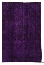 purple over dyed turkish vintage rug 5 6 x 8