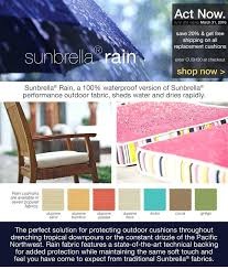 replacement cushions sunbrella rain outdoor furniture with