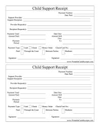 Child Support Receipt