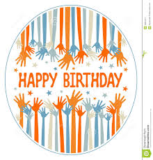 happy birthday design happy birthday hands design stock vector image 18054121