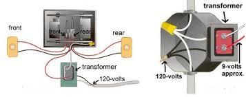 installing a doorbell a transformer to the button doorbell diagram