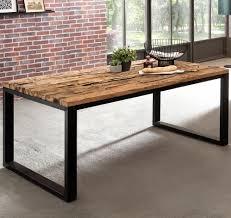 Finebuy Esstisch Ballari Esszimmertisch Modern Holztisch Massiv Design Küchentisch Groß Massivholztisch Esszimmer Industrial Style Tisch